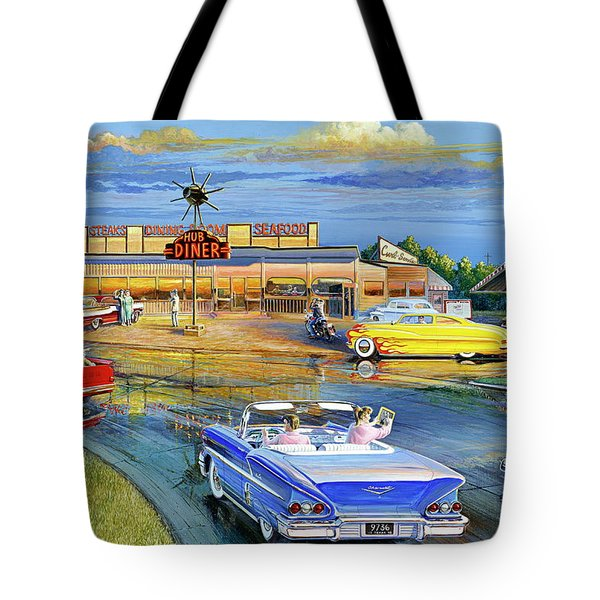 Dragging The Circle - Hub Diner Tote Bag