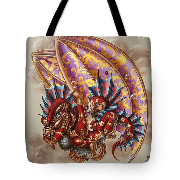 Dragon And A Ladybird Tote Bag