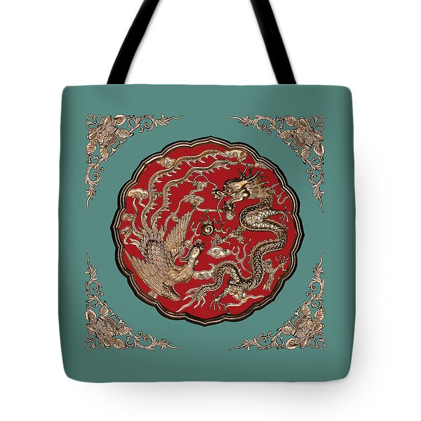 Dragon And Phoenix Tote Bag