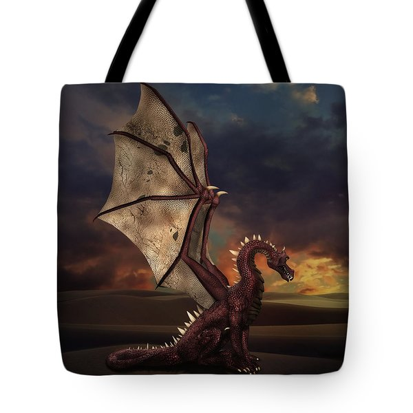 Dragon At Sunset Tote Bag