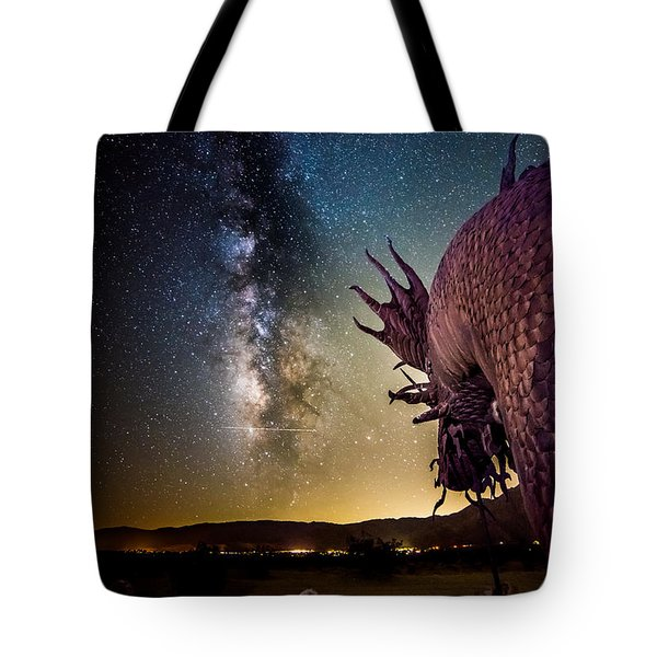 Dragon Attacks Borrego Springs Tote Bag