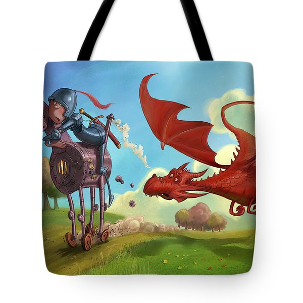 Dragon Chase Tote Bag