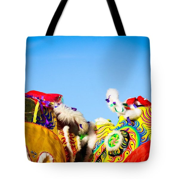 Dragon Dance Tote Bag