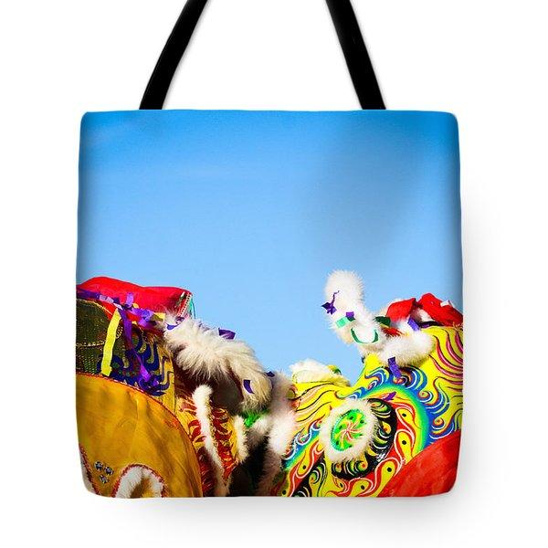 Dragon Dance Tote Bag by Bobby Villapando