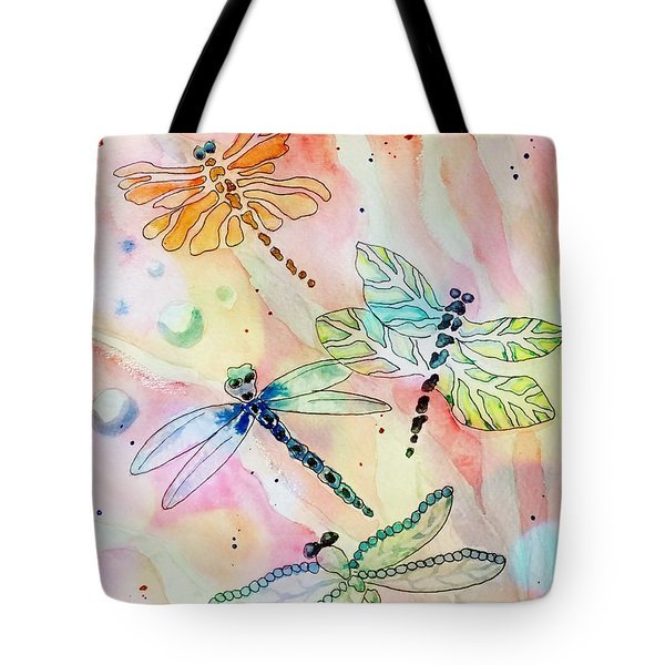 Tote Bag featuring the painting Dragon Diversity by Denise Tomasura