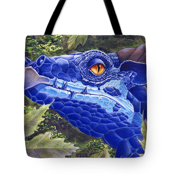 Dragon Eyes Tote Bag by Melissa A Benson