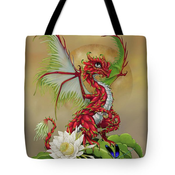 Tote Bag featuring the digital art Dragon Fruit Dragon by Stanley Morrison