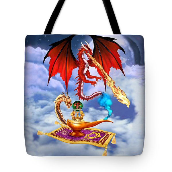 Dragon Genie Tote Bag