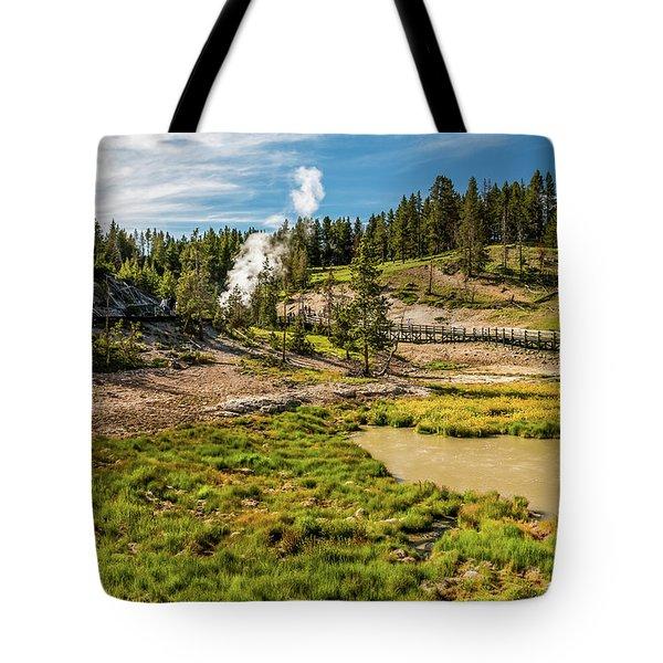 Dragon Geyser At Yellowstone Tote Bag