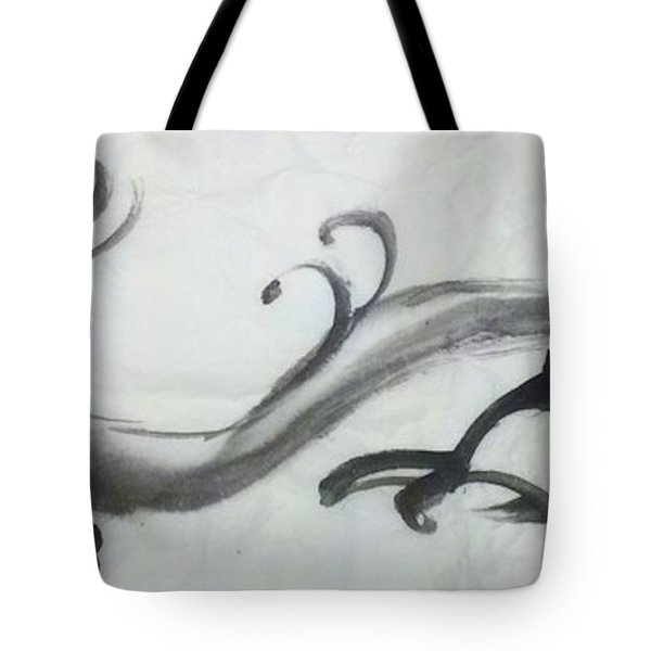 Dragon In Black Ink Tote Bag