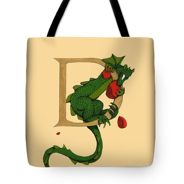 Dragon Letter D 2016 Tote Bag