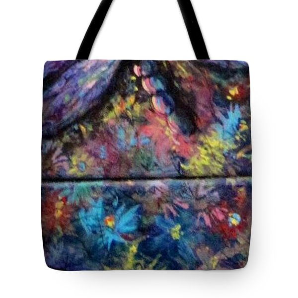 Tote Bag featuring the painting Dragon Line by Megan Walsh