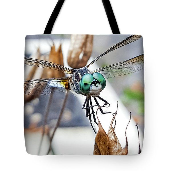 Dragon On Columbine Tote Bag