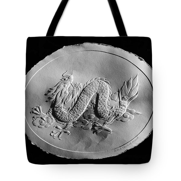 Tote Bag featuring the relief Dragon by Suhas Tavkar