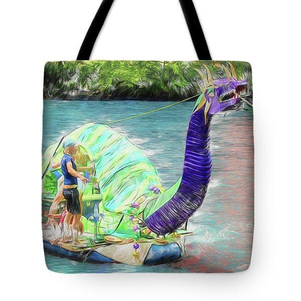 Dragon The Line Tote Bag