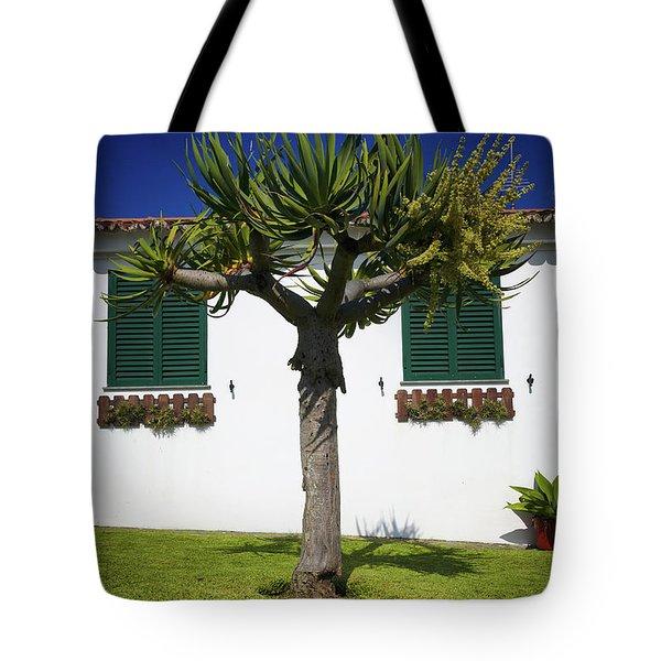 Dragon Tree Garden House Tote Bag