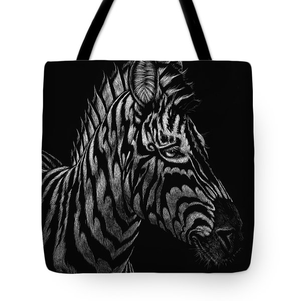 Tote Bag featuring the painting Dragon Zebra by Stanley Morrison