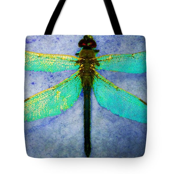 Dragonfly 5 Tote Bag by Timothy Bulone