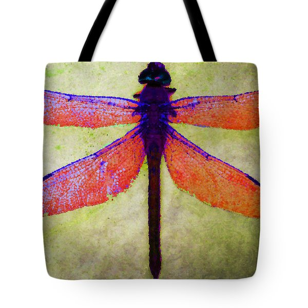Dragonfly 7 Tote Bag by Timothy Bulone