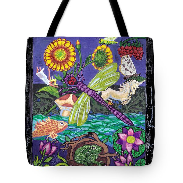 Dragonfly And Unicorn Tote Bag