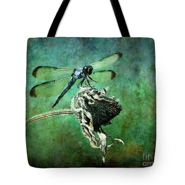 Dragonfly Art Tote Bag by Sari Sauls