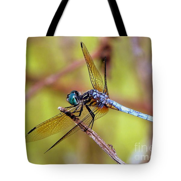 Tote Bag featuring the photograph Dragonfly At Rest by Terri Mills