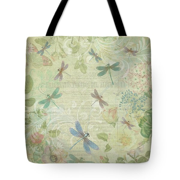 Dragonfly Dream Tote Bag by Peggy Collins