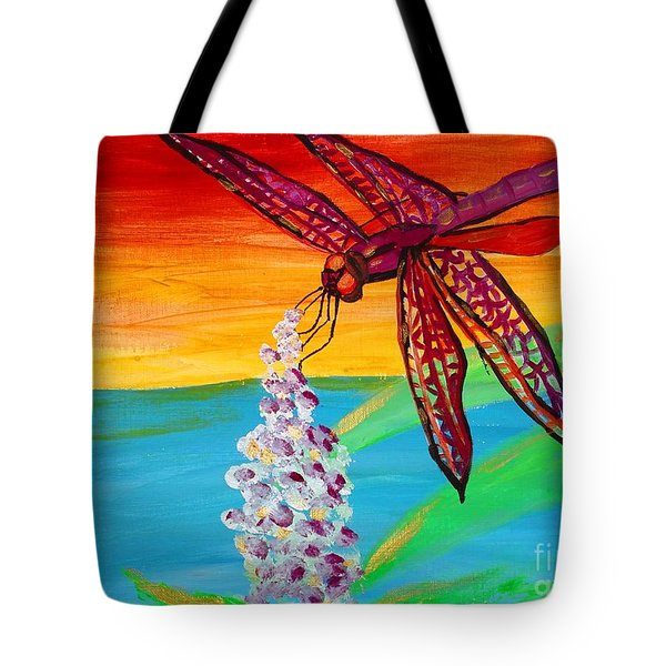 Dragonfly Ecstatic Tote Bag