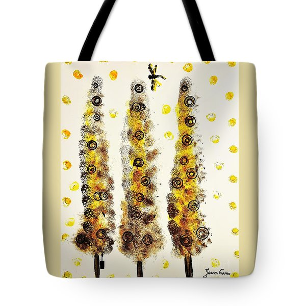 Dragonfly Flying Through The Yellow  Forest By Jasna Gopic Tote Bag