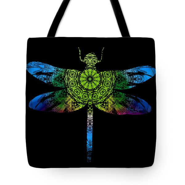 Dragonfly Kaleidoscope Tote Bag