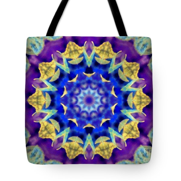Dragonfly Kaleidoscope Tote Bag by Shirley Moravec