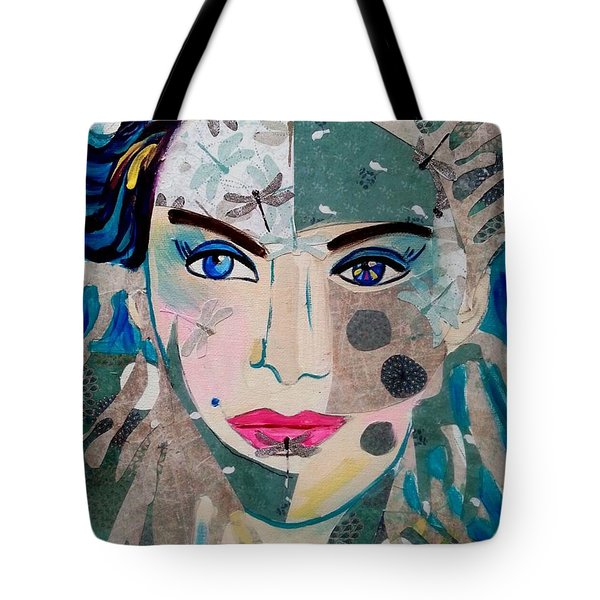 Dragonfly Lady Tote Bag