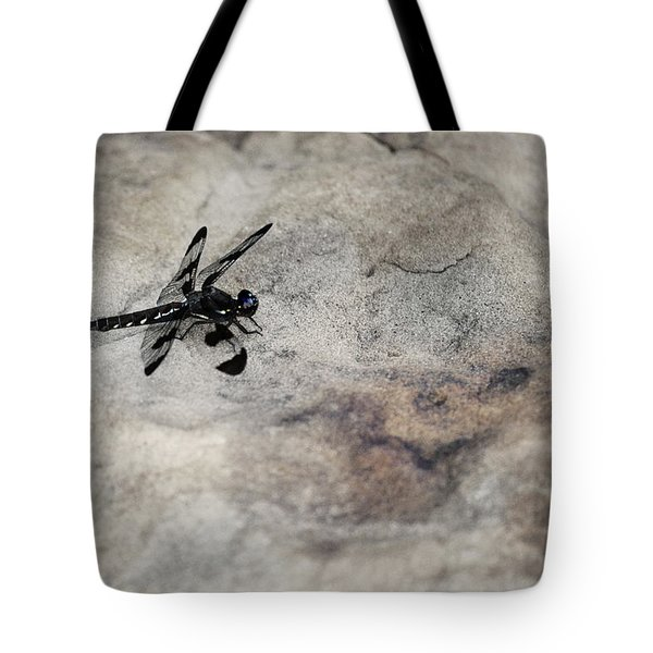Dragonfly On Solid Ground Tote Bag