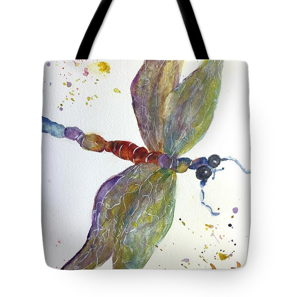 Dragonfly Tote Bag by Lucia Grilletto