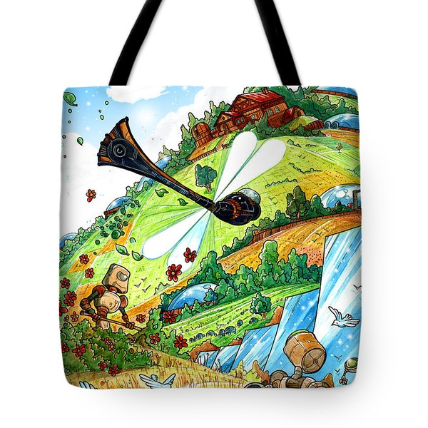 Dragonfly Tote Bag by Luis Peres