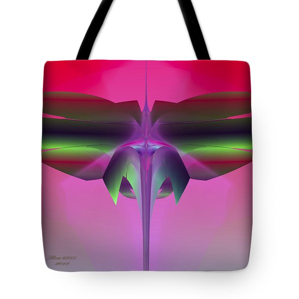 Tote Bag featuring the digital art Dragonfly by Melissa Messick