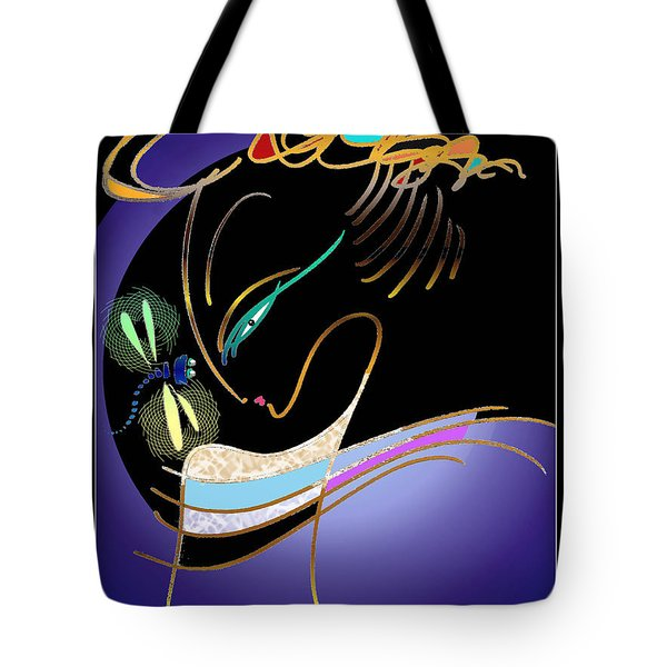 Dragonfly Messenger Tote Bag