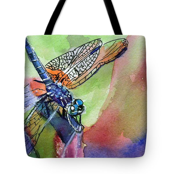 Dragonfly Of Many Colors Tote Bag
