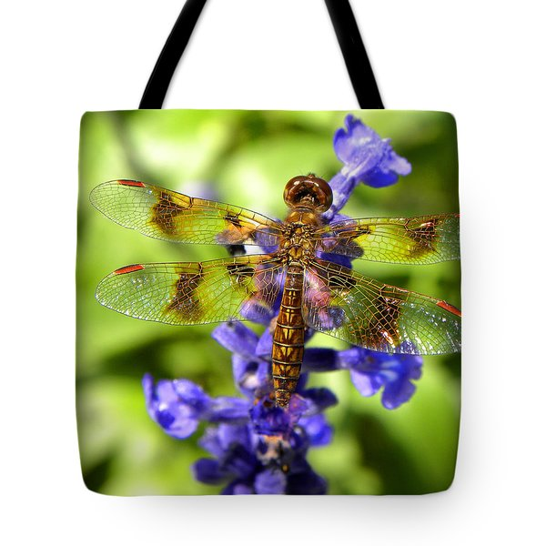 Tote Bag featuring the photograph Dragonfly by Sandi OReilly