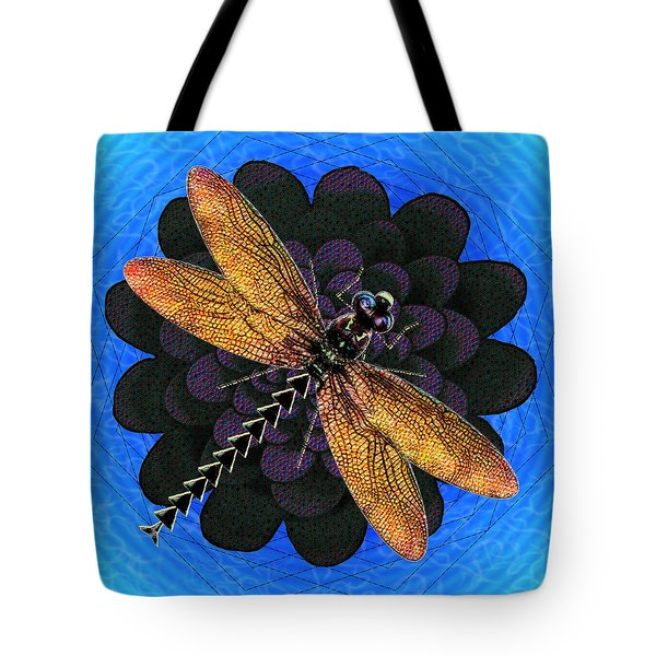 Dragonfly Snookum Tote Bag by Iowan Stone-Flowers