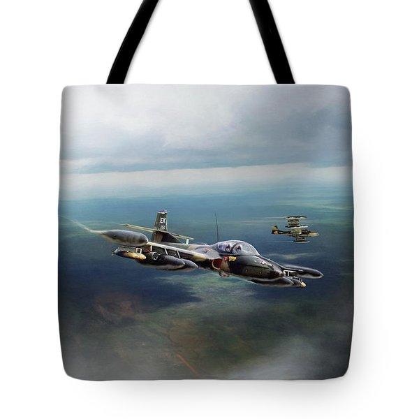 Tote Bag featuring the digital art Dragonfly Special Operations by Peter Chilelli