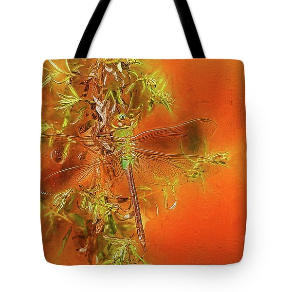 Dragonfly Tote Bag by Suzanne Handel