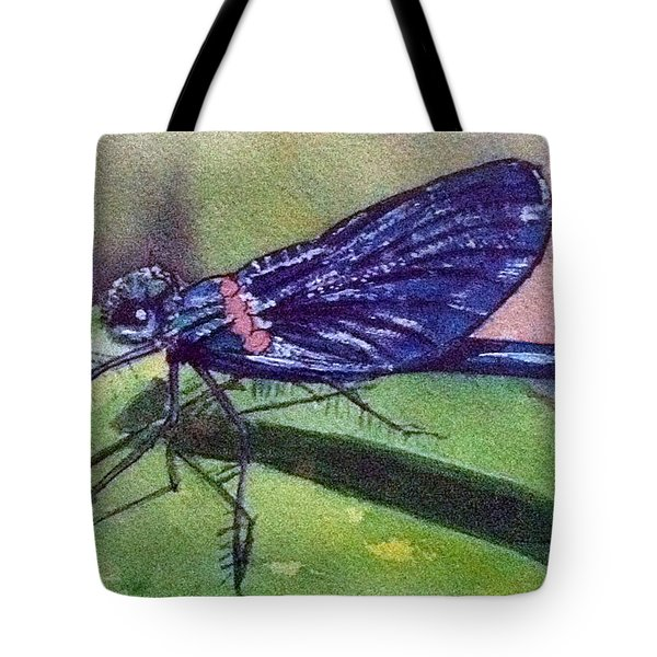 Dragonfly With Shadow Tote Bag
