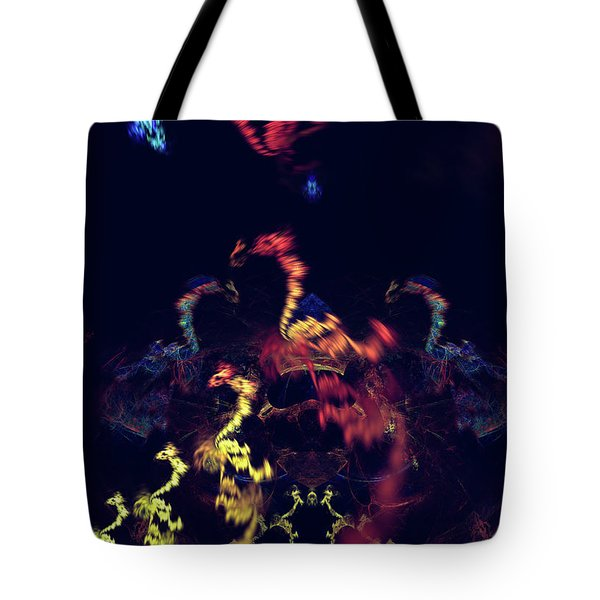 Dragons - Abstract Fantasy Art Tote Bag by Modern Art Prints