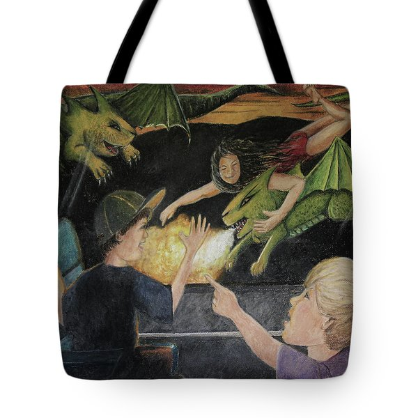 Dragons From The Train Tote Bag