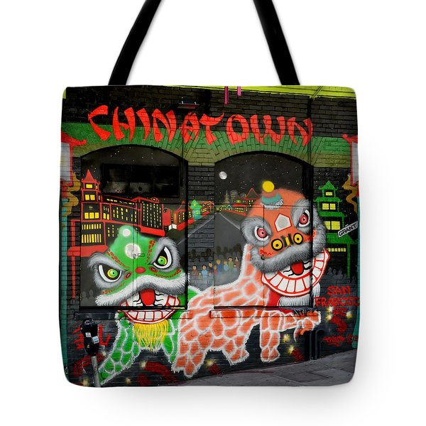 Dragons Of San Francisco Tote Bag