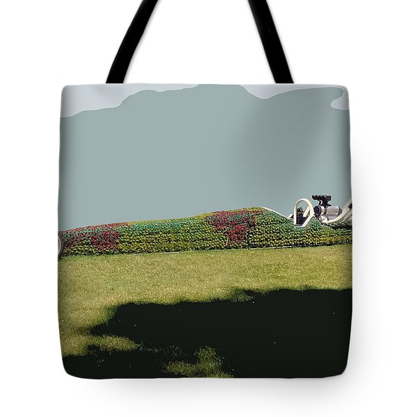 Tote Bag featuring the photograph Dragster Flower Bed by Bill Thomson