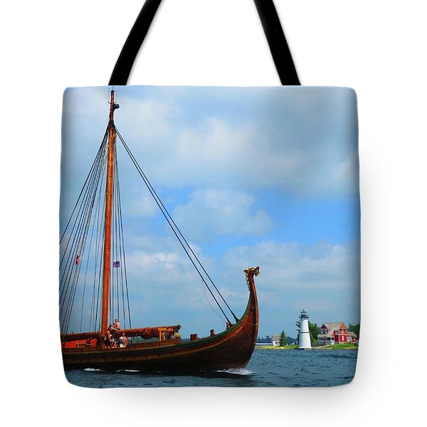 The Draken Passing Rock Island Tote Bag