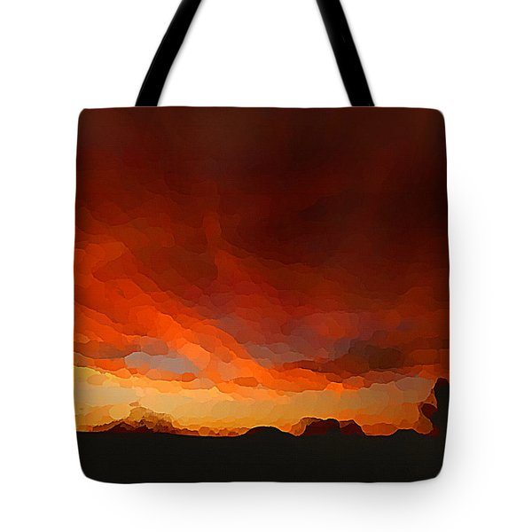 Drama At Sunrise Tote Bag