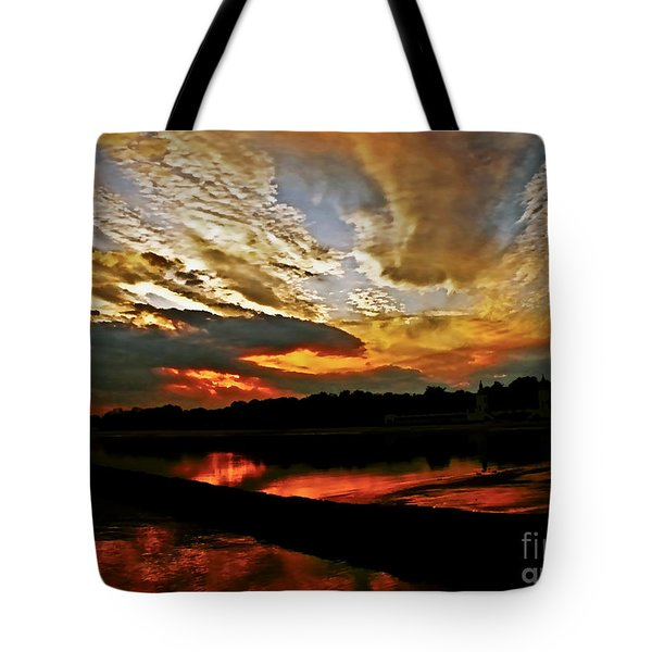Drama In The Sky At The Sunset Hour Tote Bag